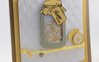 Shaker-Card mit Zitronen