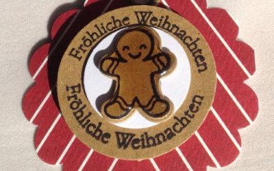 Tags mit dem Gingerbread-Man