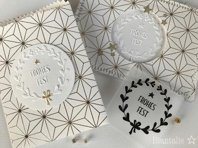 Weiß-goldener Weihnachtsgruß