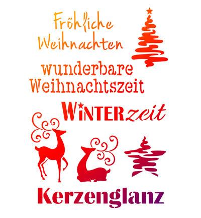 Weihnachten Wörter.Schablone Weihnachts Wörter