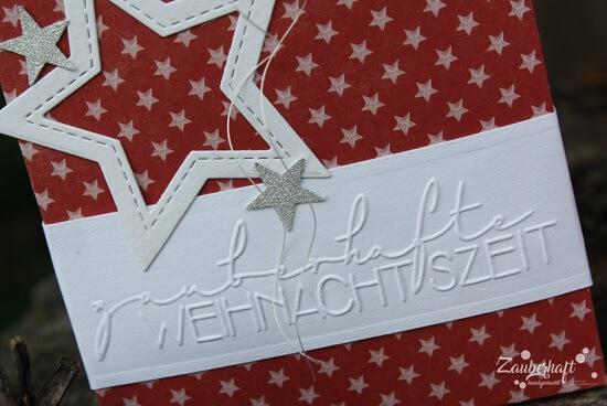 Weihnachtshäuserl mit neuen Embossingfoldern