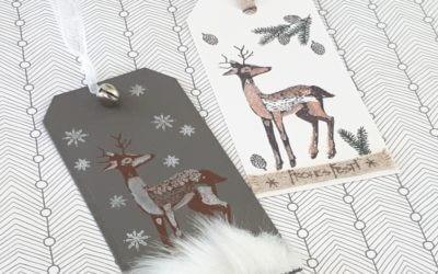 Hirsch-Anhänger gray and white
