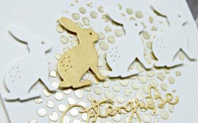Goldige Hasen Grüße
