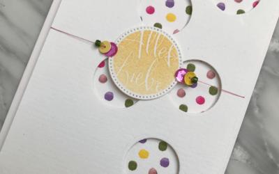 Farbenfrohe Geburtstagskarte