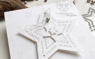 Karten Prägen mit einem Stencil bzw. Schablone…