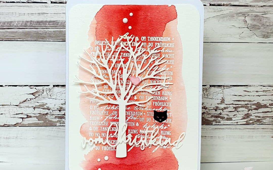Vom Christkind – Aquarellkarte