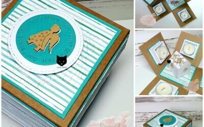 Teelicht-Box zur Taufe