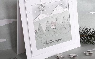 Anleitung Weihnachtskarte mit den neuen Randstanzen